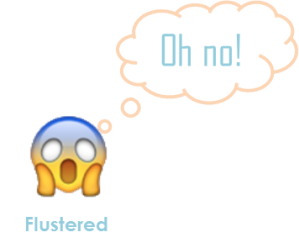 Flustered